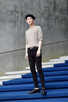 Street style: Kim Ki Beom at Seoul Fashion Week shot by Choi Seung Jum