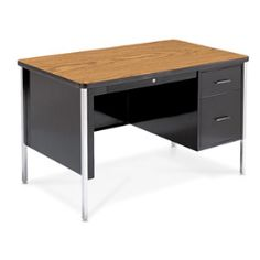 Looking for a compact, traditional teacher's desk? The Virco Model 543 can give you durable high-pressure laminate work surface along with lockable drawers.