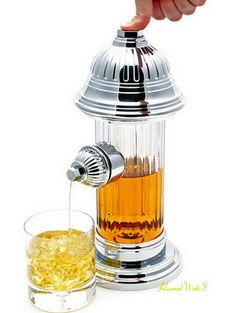 Fire Hydrant Drink Dispenser - Creative Drink Dispensers for Home Decoration, http://hative.com/creative-drink-dispensers-for-home-decoration/,