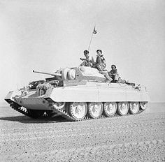 A Crusader II tank in the Western Desert, 2 October 1942. Image: Imperial War Museum, London.