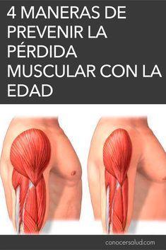 4 maneras de prevenir la pérdida muscular con la edad #salud