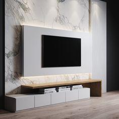 Living Room Wall Units, Living Room Tv Unit Designs, Decor Home Living Room, Living Rooms, Modern Tv Room, Modern Tv Wall, Kitchen Room Design, Home Room Design, House Design