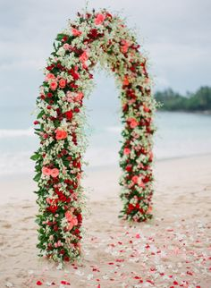 Gorgeous floral backdrop: http://www.stylemepretty.com/2015/02/10/inspired-by-johnny-depps-beachfront-nuptials/