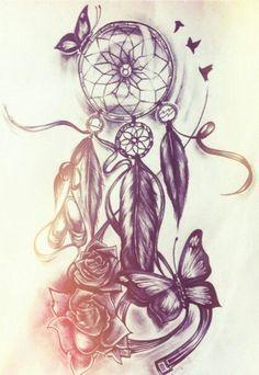 butterfly dreamcatcher. Would make a cute tattoo