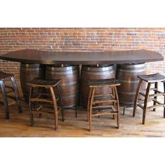 wine barrel bar - Google Search; something we could with all the barrels after the wedding!