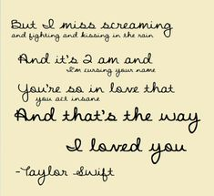Way i love you lyrics