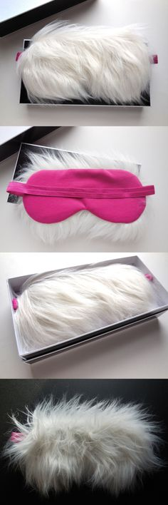 Sleep Masks: Sleep Eye Mask For Divas Faux Fur Luxurious Blindfold Girls Night Shade Furry -> BUY IT NOW ONLY: $33.99 on eBay!