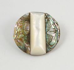 Not a bead but beautiful anyway!!  Antique Pearl Button with Carved Abalone Shell Inlay