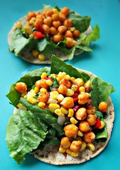 Vegan Chickpea Tacos W/ Peach Salsa – Simply Taralynn