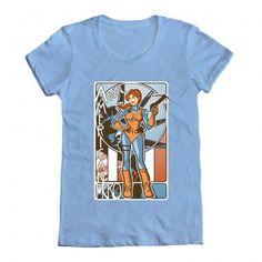 G.I. Joe's Scarlett on a t-shirt