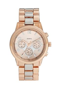 Rose gold and silver bracelet watch - so in love with this!!! $20!!