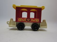 Fisher price circus train  toy vintage 1970 1980 toy red monkey car on Etsy, $5.00