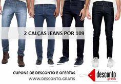 Oferta Zattini compre 2 calças jeans masculinas por apenas 109 reais. São vários modelos em diversas cores e tamanhos.  http://desconto.gratis/cupom/2-calcas-jeans-por-109-zattini/  #desconto #zattini #jeans #moda #descontos #modamasculina