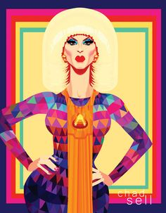 This is an 11 x 14 print of Katya from RuPauls Drag Race! (The Chad Sell watermark doesnt appear in the printed version. When adding the item to your cart, you can choose whether or not youd like the illustrator to sign the print. Drag Queen Outfits, All Star, Queen Drawing, Rupaul Drag Queen, Katya Zamolodchikova, Trixie And Katya, Queen Art, Brown Art, Lgbt