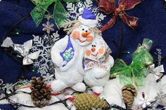 """У нас не по южному холодно,сыпит ледяная крупа,передали """"Штормовое предупреждение""""Зима!!!Вот ватные снеговички-добрые,тёплые.Высота 18-15 см.Могут висеть,устойчиво стоят. фото 7"""