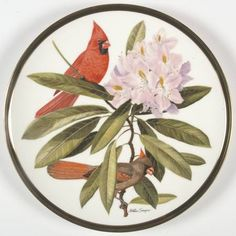 Franklin Mint Songbirds of the World: Cardinal - Artist: Arthur Singer