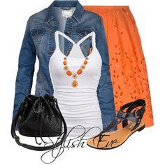 Orange and Denim :)