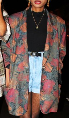 Not loving the insane floral print, but I'd like to try this look with a different blazer