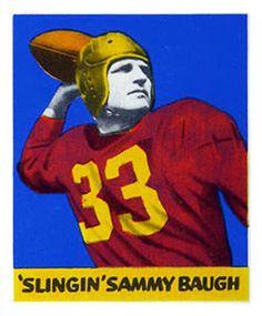 1948 Leaf 34 Sammy Baugh Washington Redskins Football Card