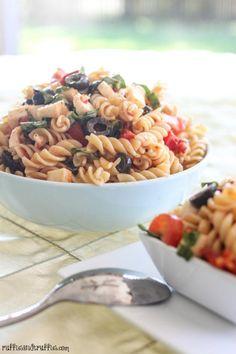 Pasta Recipe : Tomato, Basil, and Mozzarella Pasta Salad Pasta Recipe