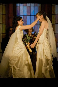 When There Are Two Brides – Options for Lesbian Bridal Attire Lesbian Wedding, Lesbian Couples, Two Brides, Practical Wedding, Girls In Love, Happy Girls, Tears Of Joy, Alternative Wedding, Wedding Inspiration