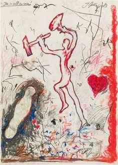 Mischtechnik auf Papier; gerahmt 87 x 62 cm Schätzpreis: 25000 - 50000 € Modern Art, Contemporary Art, The Eighth Day, Art Object, Art Auction, Art Nouveau, Antiques, Amsterdam, Artwork