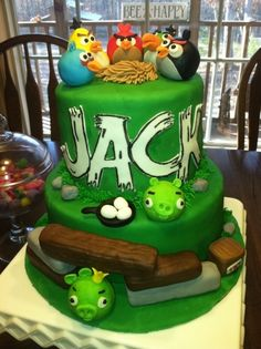 Angry Birds Birthday Cake By sj27213 on CakeCentral.com