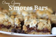 (Ooey, gooey and EASY!) S'mores Bars Recipe - forget about campfire s'mores! These bars are incredible!