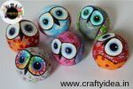 Papier mache and cardboard, papier mache pumpkins chickens pulp and paper pulp sheep pulp and paper mache owls grenades mache papier mache bowls, vases paper pulp Mezuzah pulp and paper mache cats, mice papier-mache Pebble Painting, Pebble Art, Stone Painting, Paper Mache Crafts, Bird Crafts, Paper Craft, Owl Rocks, Golf Ball Crafts, Paper Owls