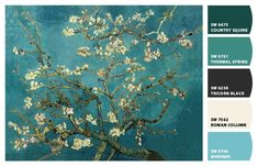 Almond Tree in Blossom #colour #palette #inspiration