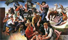 Thomas Hart Benton: Vertical Composition, Energy Fields, and Space ...