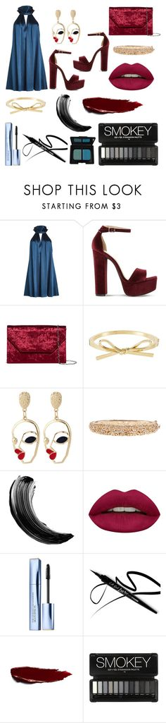 """DLAA double date"" by peaceloveandtea123 ❤ liked on Polyvore featuring Galvan, Steve Madden, Halogen, Maybelline, Huda Beauty, Estée Lauder and NARS Cosmetics"