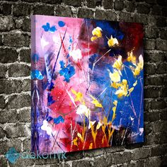 Abstract Wall Flowers Tablo I #soyut_kanvas_tablo