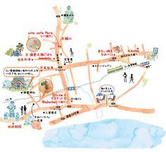 A-3.デザインマップ(水彩) - 地図作成専門のワークスプレス