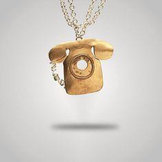 #ciondolo #telefono #bijoux #gioiellibronzo #abibubigiu