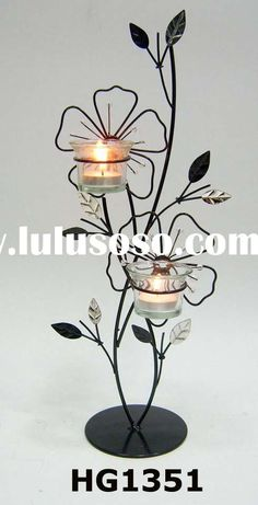 metal photo stand candle - Google Search