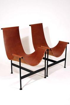 Leather Sling Lounge Chairs image 4