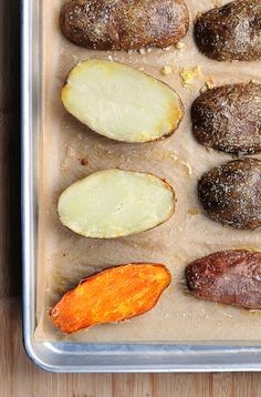 A quicker way to bake potatoes. And I think it's tastier too. This is so easy!