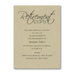 Retirement Celebration Party Invitation at InvitaitonsByU.com