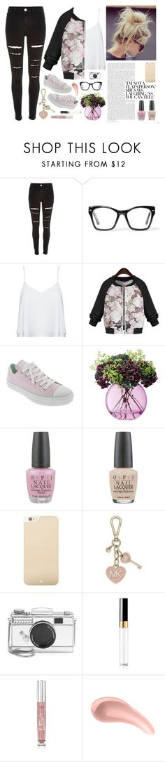 """""""Untitled"""" by lover-of-pie ❤ liked on Polyvore featuring River Island, Spitfire, Alice + Olivia, Converse, LSA International, OPI, Kate Spade, MICHAEL Michael Kors, Chanel and Victoria's Secret"""