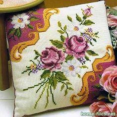 Вышивка крестом на подушках