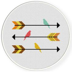 FREE for Nov 5th 2016 Only - Arrows And Birds Cross Stitch Pattern