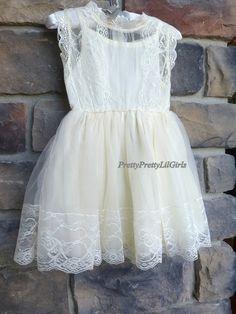 Ivory Lace Girls Dress