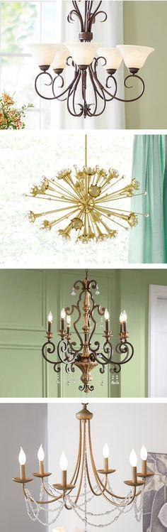 Nothing makes quite as dramatic a statement as a stunning lighting fixture as a centerpiece to a room or entryway. Chandelier lighting is an excellent way to make a bold statement, whether with a modern chandelier or classic candelabra. Visit Wayfair and Modern Chandelier, Chandelier Lighting, Entryway Chandelier, Pendant Lights, Iron Chandeliers, Interior Lighting, Home Lighting, Lighting Ideas, Diy Home Decor