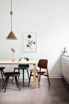 Apartment 34   Designer Files: {I Spy Green!} tanja vibe apartment where is that brass pendant lamp from?