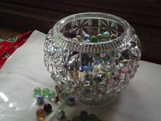 Vintage Crystal Candy Dish by sweetpeaspantry on Etsy, $5.00