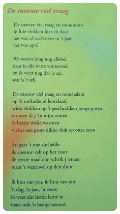 Gedicht 'De sneeuw viel traag' - Toon Hermans