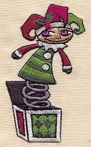 "Embroidery Designs at Urban Threads - Misfit Jack (#UT2827) 2.20""w x 3.85""h 10 December 2010"
