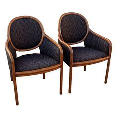 Pair Of Ward Bennett For Brickel Arm Chairs