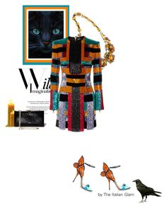 """""""Halloween in Balmain"""" by theitalianglam ❤ liked on Polyvore featuring Sophia Webster, Balmain and Salvatore Ferragamo"""